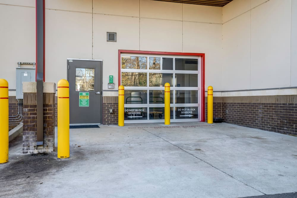 Drive up access door to interior storage units at Metro Self Storage in Franklin