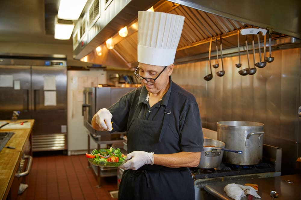 Chef making food in Florence, Oregon