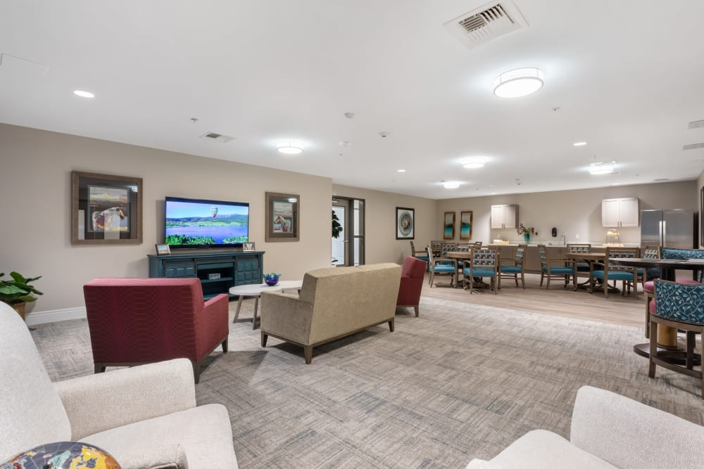 lounge are with tv at WellQuest of Elk Grove in Elk Grove, California