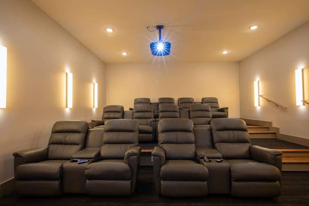 Movie theater available at Luxor Club in Jacksonville, Florida