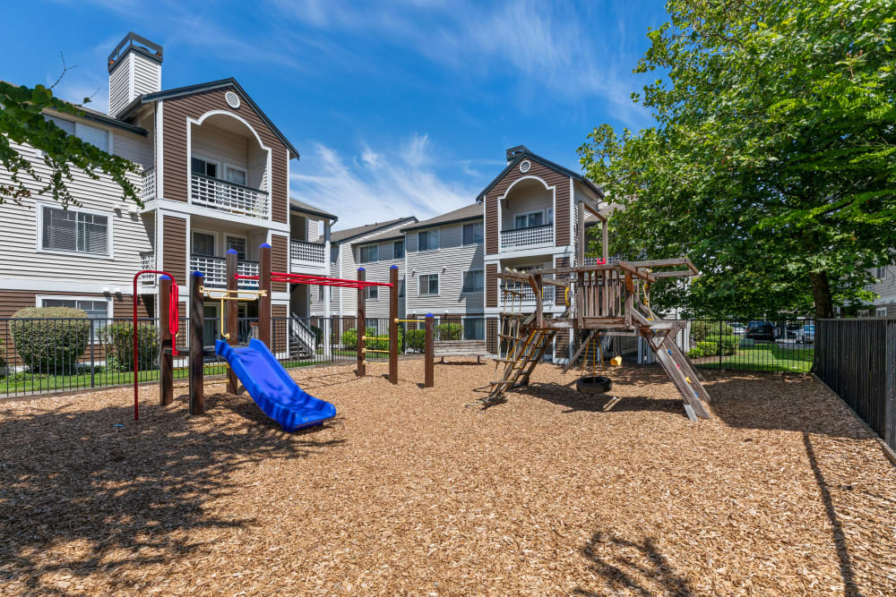 The playground Olin Fields Apartments in Everett, Washington