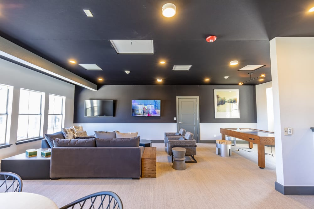 The spacious and relaxing clubhouse at Altitude Westminster in Westminster, Colorado