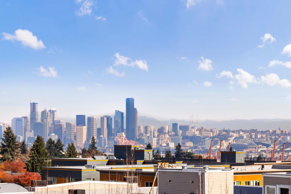 View of downtown Seattle from the Property at Elan 41 Apartments in Seattle