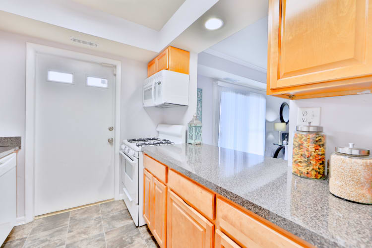 Modern kitchen at apartments in Randallstown, Maryland