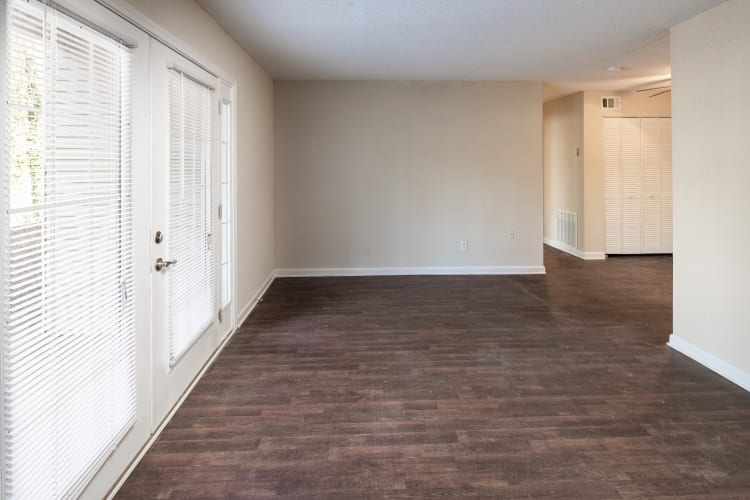 Recently renovated home with hardwood floors at Premier Apartments in Austell, Georgia
