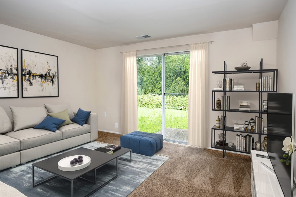 Fontana Village offers a unique living room in Rosedale, Maryland