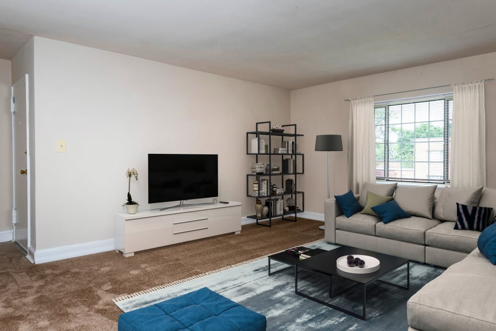 Our beautiful apartments in Hyattsville, Maryland showcase a living room