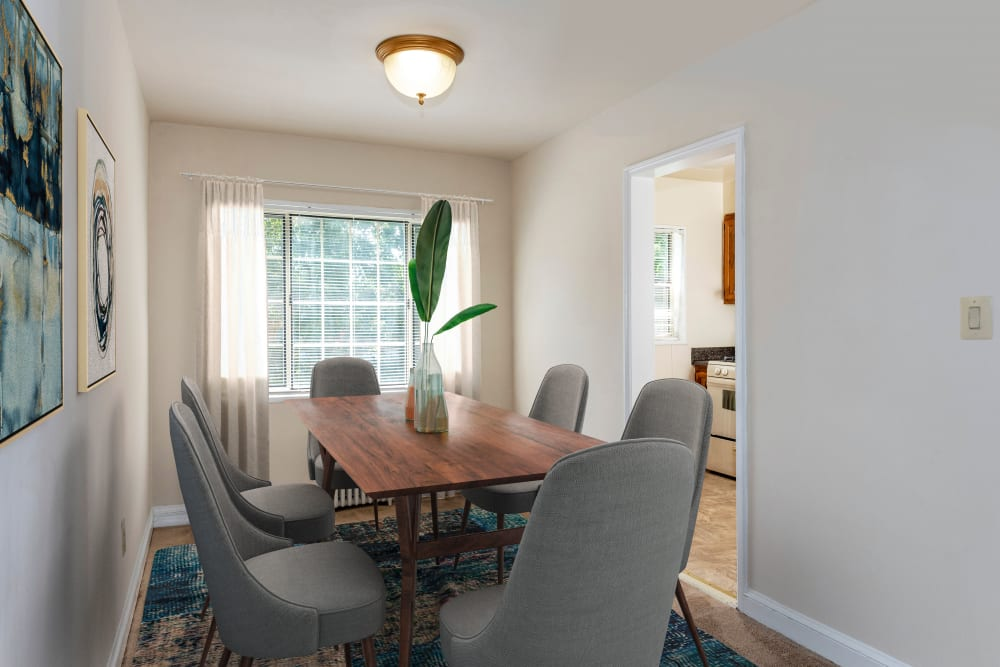 Unique dining room at apartments in Hyattsville, Maryland