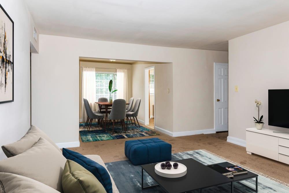 Enjoy our beautiful apartments living room at Hamilton Manor