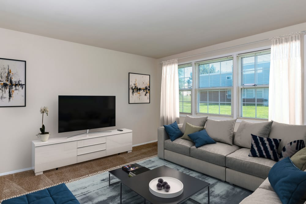 Our cozy apartments in Halethorpe, Maryland showcase a living room