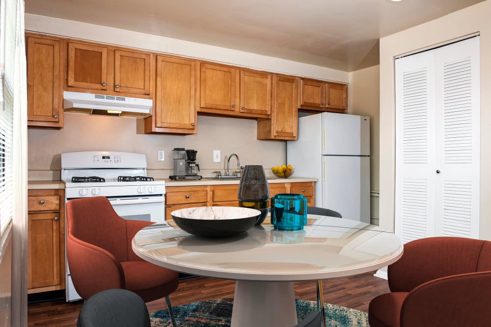 Our modern apartments in Halethorpe, Maryland showcase a kitchen