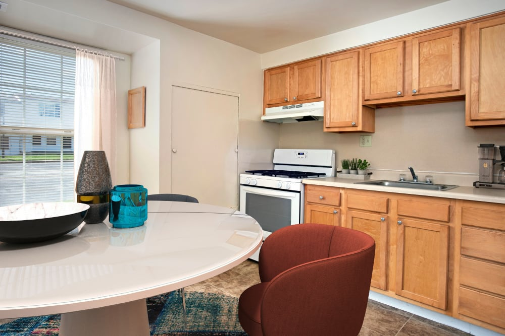 Spacious apartments with a kitchen at Whispering Woods