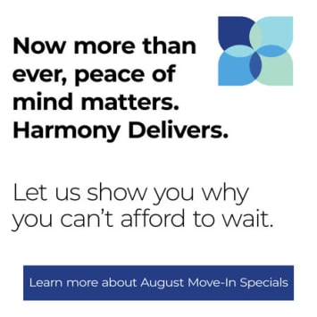 Now more than ever, peace of mind matters at Harmony at Independence