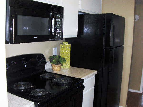 Well equipped kitchen at Greentree Apartments