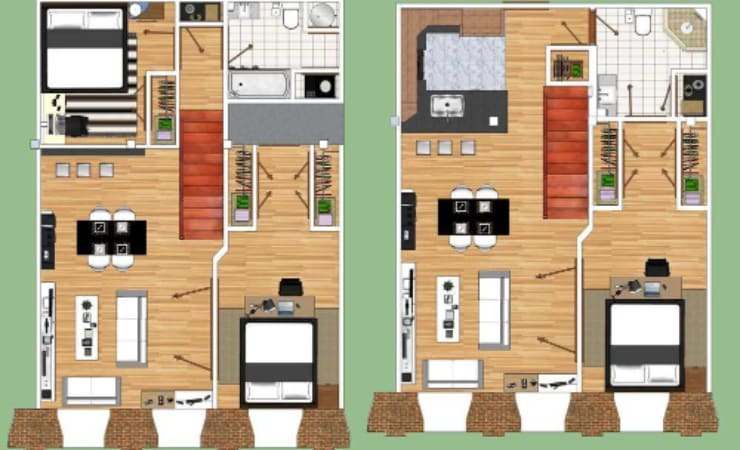 3 Bedroom 3 Bathroom  1452 - 1738 Sq. Ft.  Loft option available  Starting at $1810