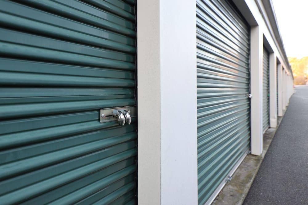 Green storage door at StayLock Storage in Mauldin, South Carolina