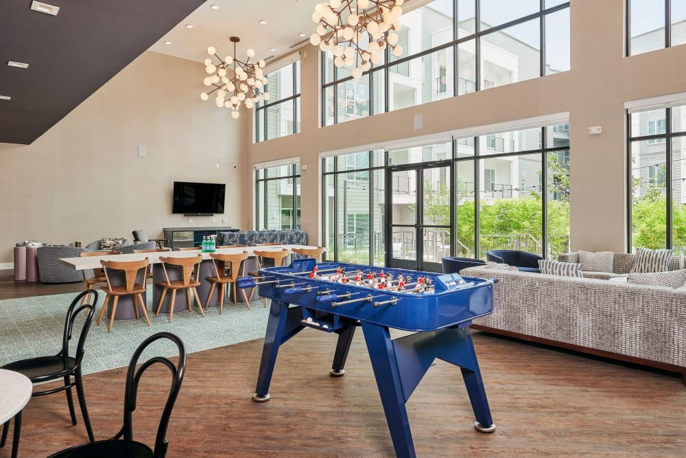 Game room at The Copeland in Austin, Texas