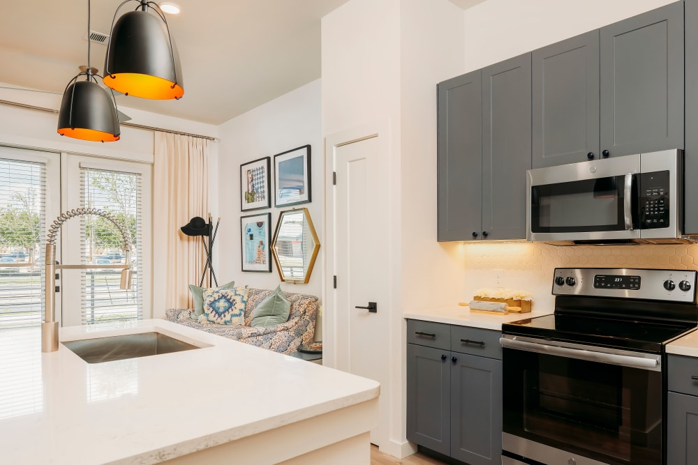 Spacious kitchen at The Copeland in Austin