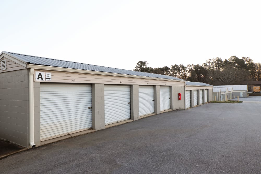 Outdoor drive up storage at StayLock Storage in Mauldin, South Carolina