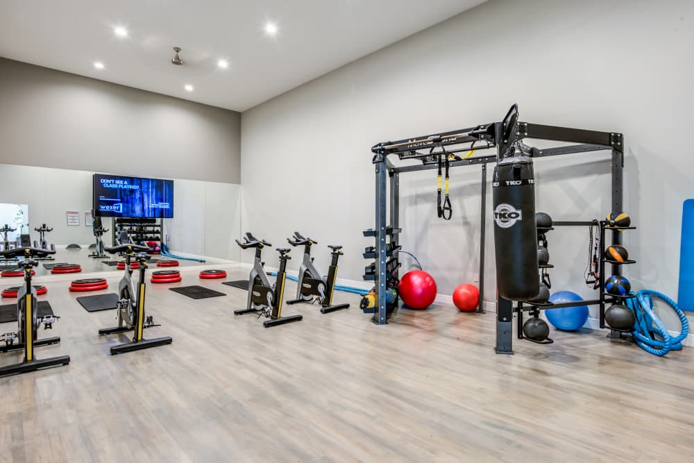Fitness center at apartments in Palm Beach Gardens, Florida