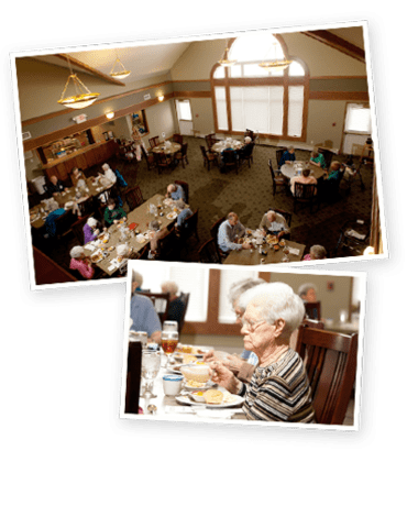 Meadow Ridge Senior Living offers delicious food.