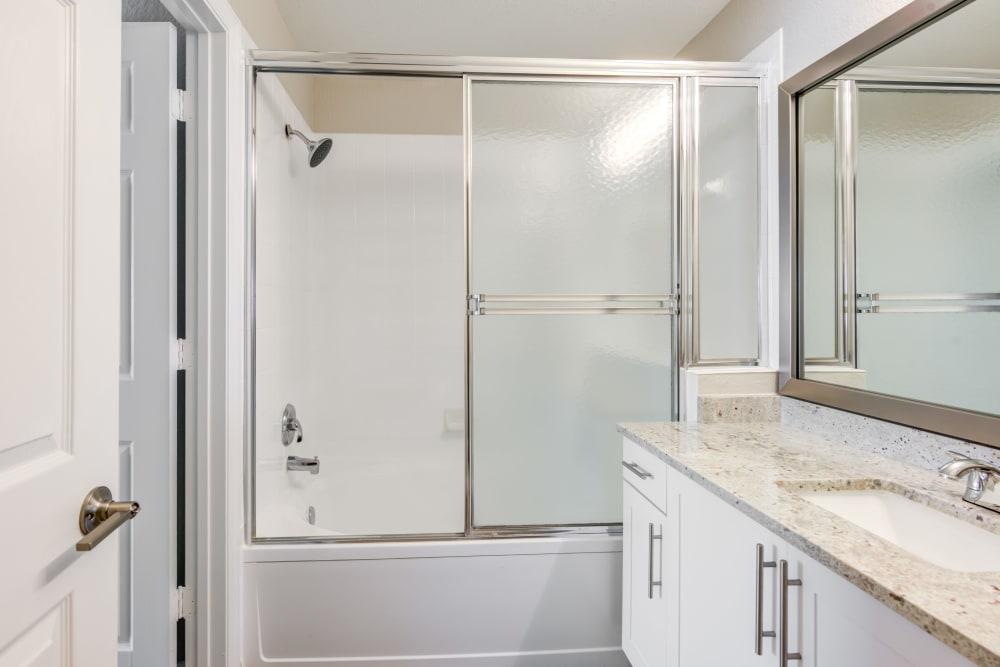 Bathroom at apartments in Palm Beach Gardens, Florida