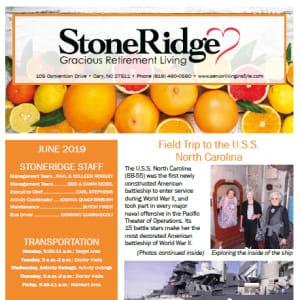 June Stoneridge Gracious Retirement Living Newsletter