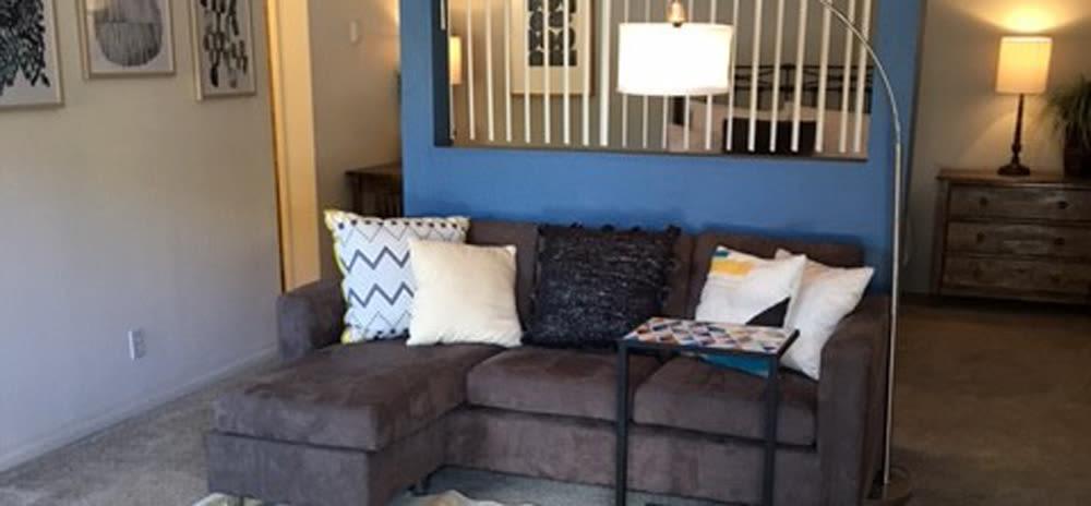 Comfy couch at Vista Alegre apartments