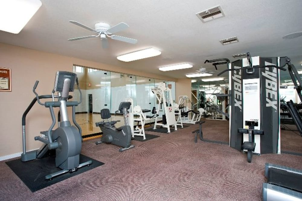 Fitness center at The Springs of Indian Creek in Carrollton, Texas