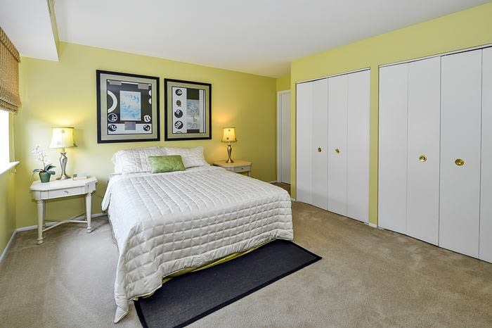 Forge Gate Apartment Homes bedroom that features ample closet space in Lansdale, PA