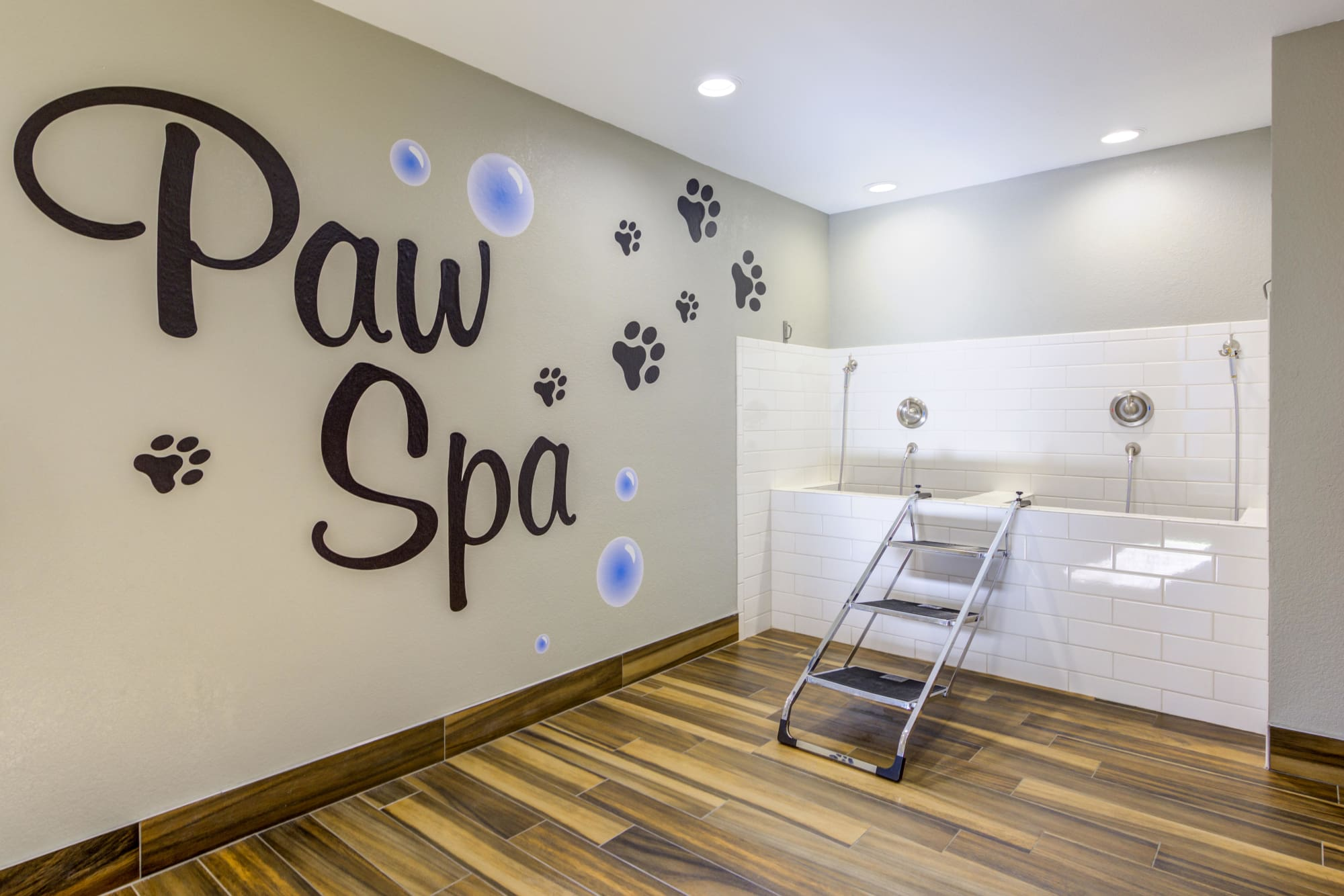 Pet wash room at Village Oaks in Chino Hills, California