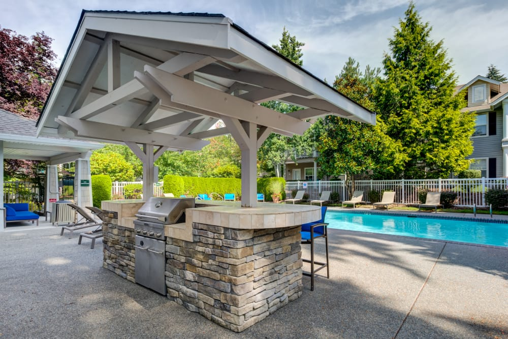 BBQ grill near the pool at Bradley Park Apartments in Puyallup