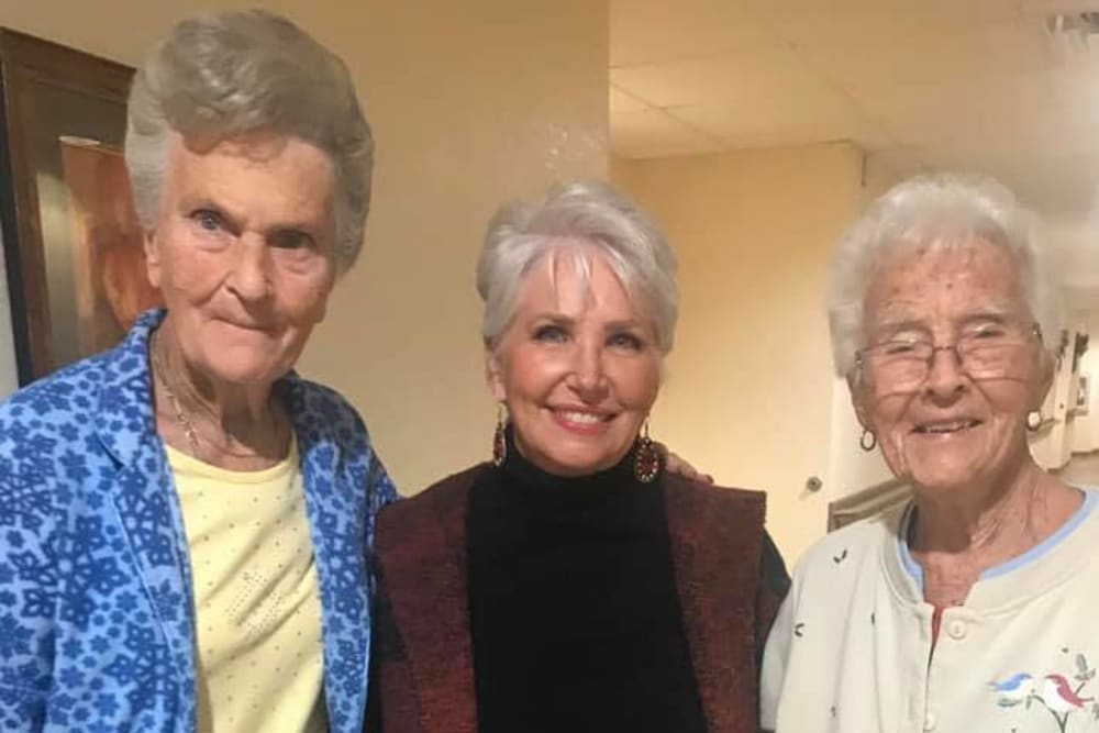 Female residents at Balmoral Assisted Living in Lake Placid, Florida