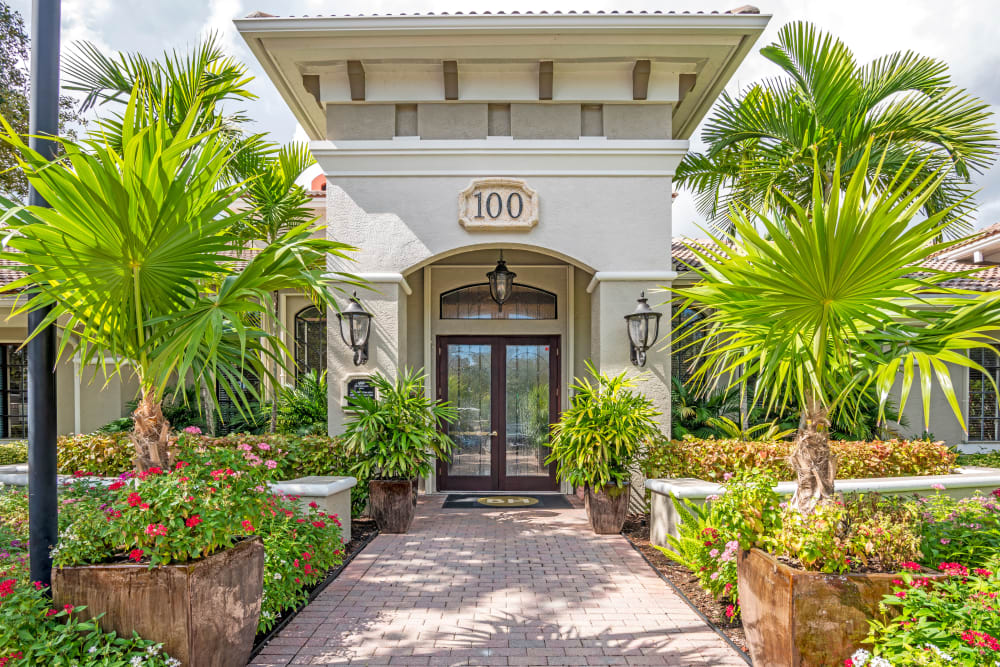 Clubhouse at apartments in Palm Beach Gardens, Florida