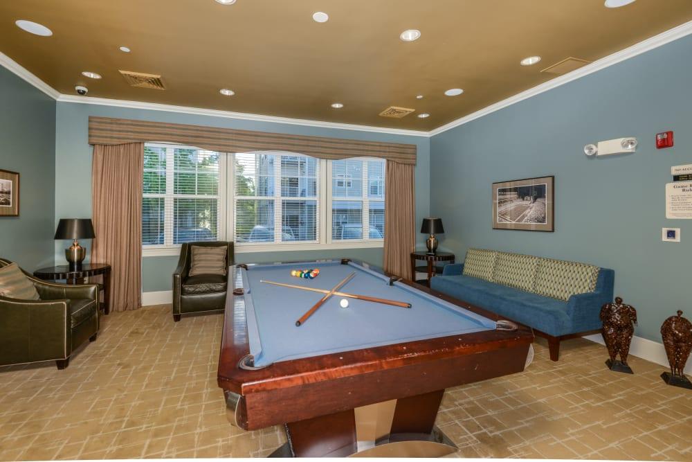 Billiards table in clubhouse at Danvers, Massachusetts near Sofi Danvers