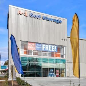 Front of A-1 Self Storage in San Jose, California