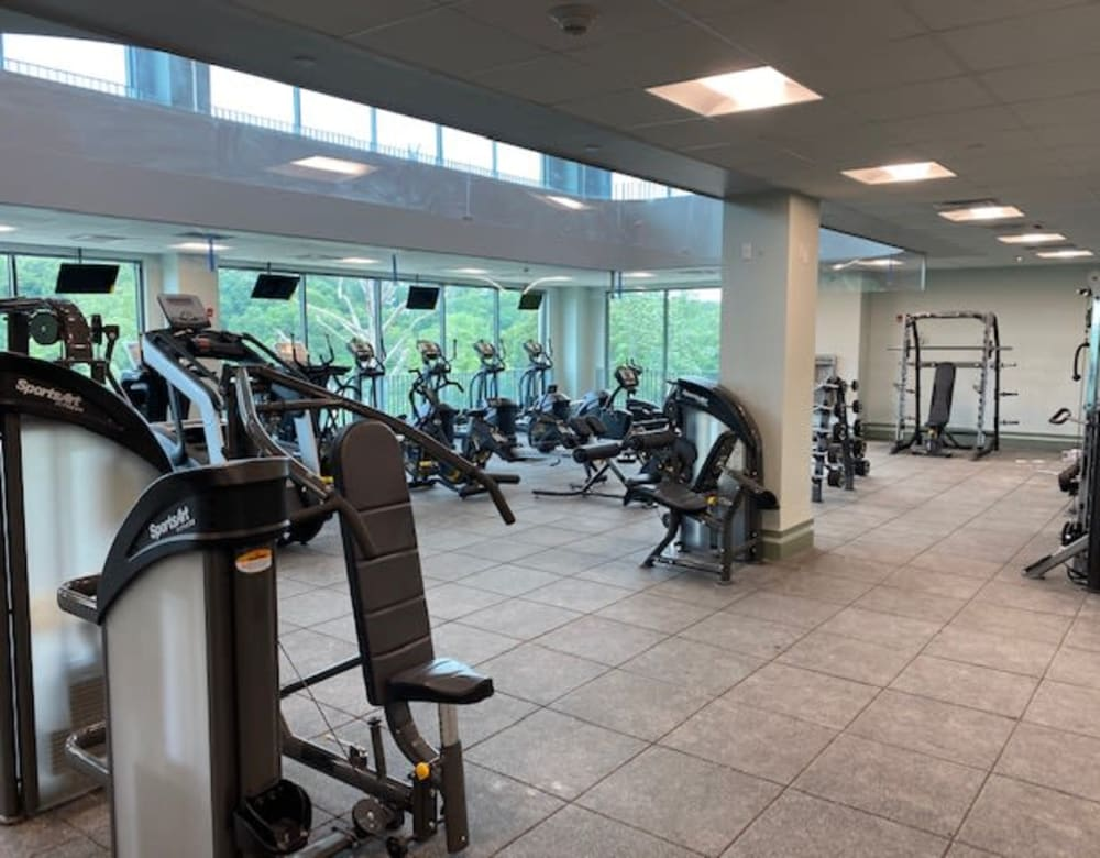 Workout center at Monarch at Ridge Hill in Yonkers, New York