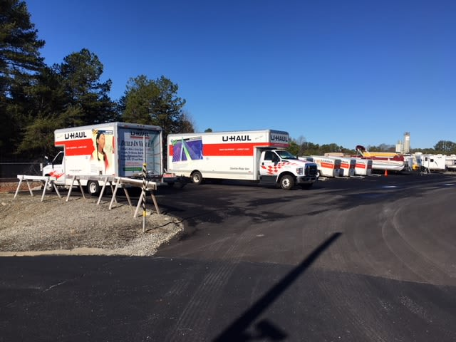 Moving trucks available at Monster Self Storage in Seneca, South Carolina