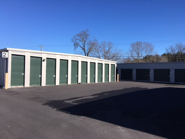Row of units at Monster Self Storage in Seneca, South Carolina