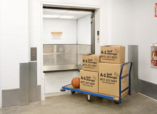 A variety of box sizes available at A-1 Self Storage in Cypress, California