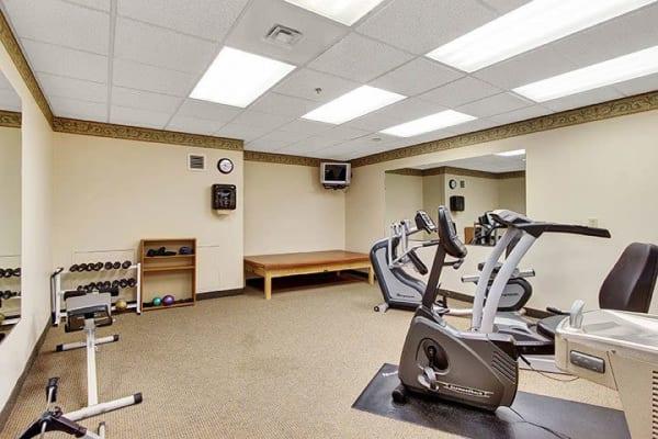Exercise equipment at Keystone Villa at Douglassville in Douglassville, Pennsylvania