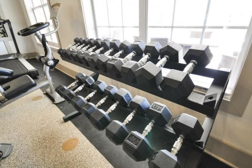 Fitness center at Arbor Village in Summerville, South Carolina