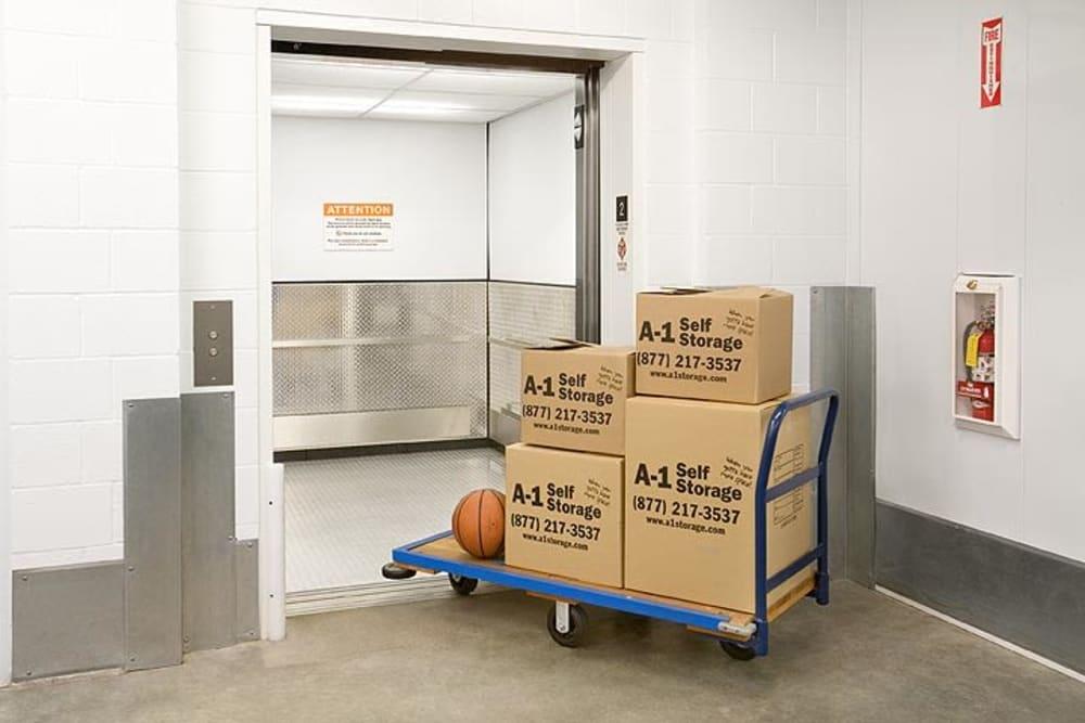 Carts at A-1 Self Storage in Cypress, California