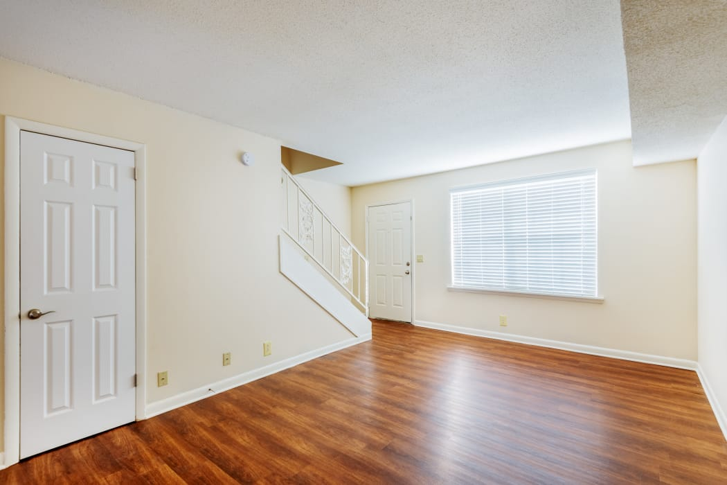 Bright and open floor plan with hardwood floors at Audubon Park in Nashville, Tennessee