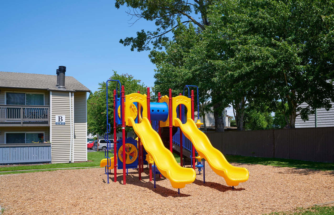 Onsite playground at Arbor Chase Apartment Homes in Kent, Washington