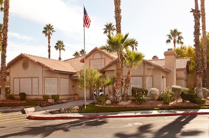 Apartment entrance at Sunrise Springs Apartments in Las Vegas, Nevada