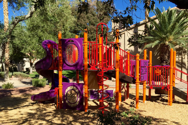 Play area outside of Sunrise Springs Apartments in Las Vegas, Nevada