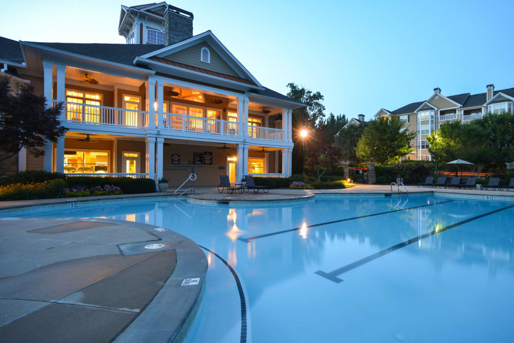 Stunning pool at Dakota Mill Creek in Buford, Georgia managed by Hercules Living.