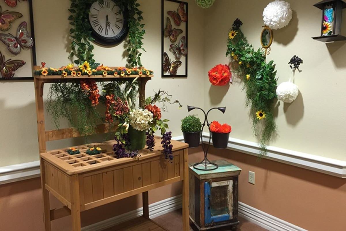 Nostalgia areas at New Dawn Memory Care in Colorado Springs, Colorado