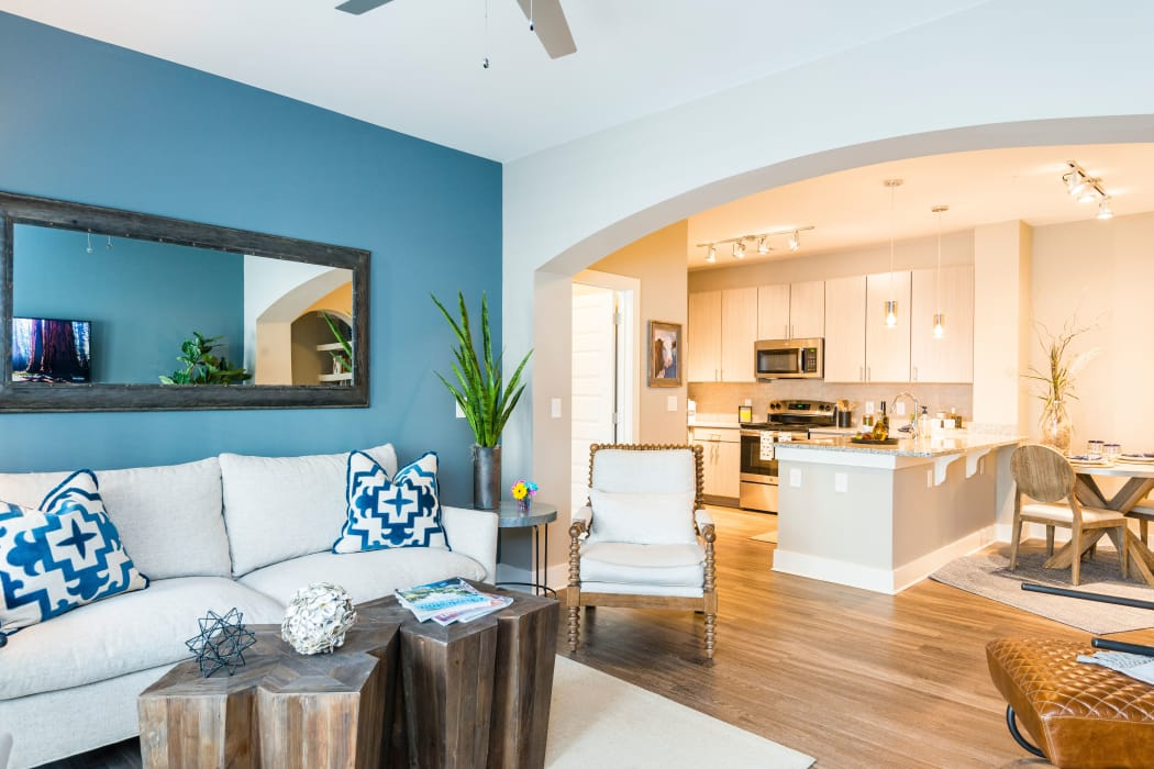Modern apartment interior at The Heyward in Charleston